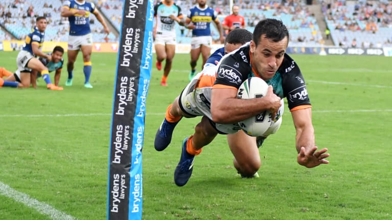 Could be undefeated: Corey Thompson and the Wests Tigers have only lost one game, and it was quite unfortunate.