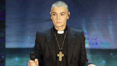Sinead O'Connor performs in 2014.
