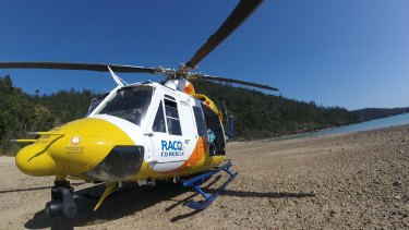 The 12-year-old girl was brought to a beach near Cid Harbour by water police and then airlifted to hospital.