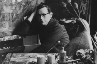 Guy Warren in his studio in London in the late 1950s.