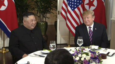 The two leaders have dinner before talks begin.