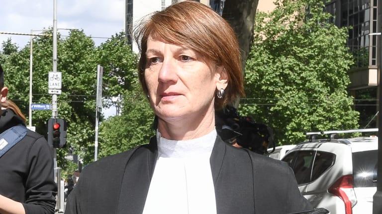 Kerri Judd arrives at court today.