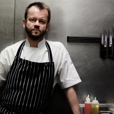Jeremy Strode at his highly regarded Bistrode restaurant in Sydney in 2012.