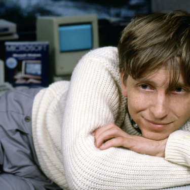Gates in 1985; 10 years earlier, he had co-founded the software giant Microsoft.