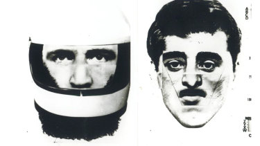 A computer generated image of the gunman, based on witness statements, released by police investigating the 1980 assassination.