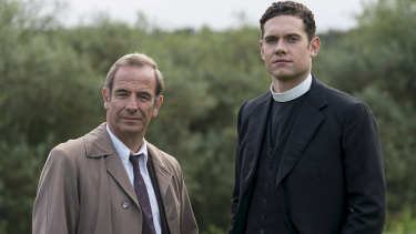 Robson Green and Tom Brittney in  Grantchester.