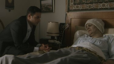 Jamal (Tyler De Nawi) has returned from fighting in Syria to see his dying mother Manal (Helen Chebatte) in A Lion Returns.