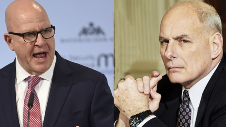 Friction with Trump: National Security Adviser H.R. McMaster, left, and Chief of Staff John Kelly.