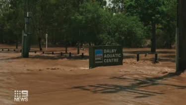Flooding in Dalby stabilised on Sunday afternoon.