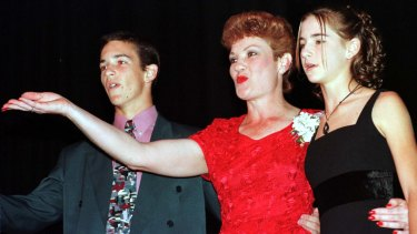 Pauline Hanson launches One Nation in Ipswich in 1997 with son Adam and daughter Lee.