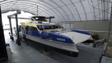 The double-decker CityCat, constructed at a cost of $3.7 million, hit the water in October.