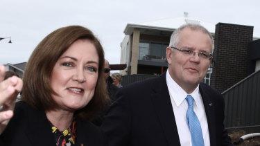 Mates: Prime Minister Scott Morrison and Senate hopeful Sarah Henderson