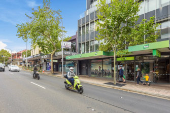 Properties sold at Burgess Rawson auction included the Tabcorp shop at 128 Military Road, Neutral Bay.