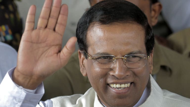 Sri Lanka's then-incoming President Maithripala Sirisena in 2015.