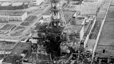 Separating fact from myth ... the Chernobyl nucler power plant, three days after the explosion.