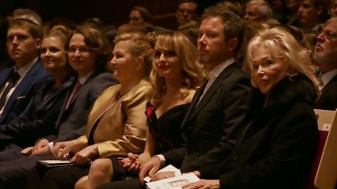 Tensions: Blanche d'Alpuget at last month's Bob Hawke Memorial at the Sydney Opera House.