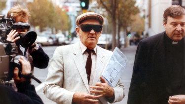 Gerald Ridsdale walks into court in Warrnambool in 1993.