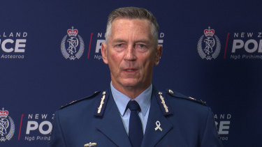 NZ Police Commissioner Mike Bush.