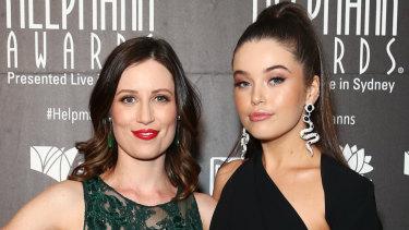 Madeleine Jones and Maggie McKenna originated the roles of Rhonda and Muriel on stage.