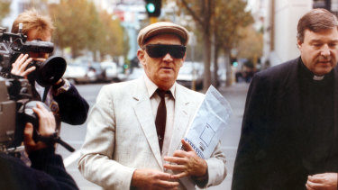 Gerald Ridsdale walks into court in Warrnambool in 1993.