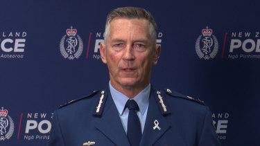 NZ Police Commissioner Mike Bush.