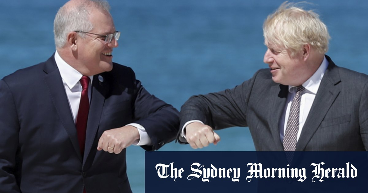Australia waiting for 'the right deal' with Britain says Scott Morrison – Sydney Morning Herald