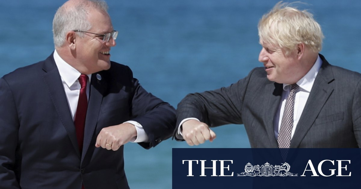 Australia waiting for 'the right deal' with Britain, says Scott Morrison