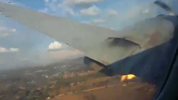 Fiery window-seat footage emerges of fatal South Africa plane crash