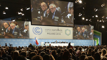 Delegates to the UN's COP24 climate summit in Katowice, Poland.