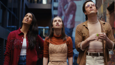 Olivia Junkeer, Naomi Higgins and Wil King in the sex- and expletive-filled comedy Why Are You Like This.