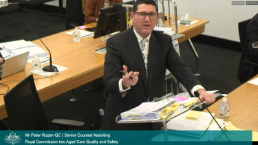 Peter Rozen, QC, said the aged care industry was still not prepared for COVID-19.