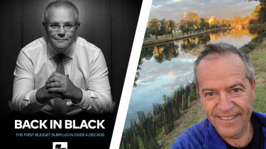 Scott Morrison and Bill Shorten have built drastically different social media profiles in an effort to sway voters.