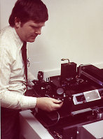 Gary Starkweather, the inventor of the laser printer, with an early model in the 1970s.