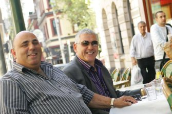 John Khoury, left, with Mick Gatto.