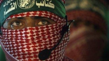 Hamas militants in Gaza strip in 2010.