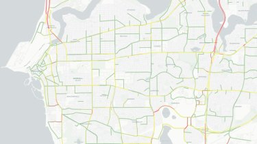 Congestion on local roads in 2031: The colours represent the average level of congestion on local roads during AM peak.