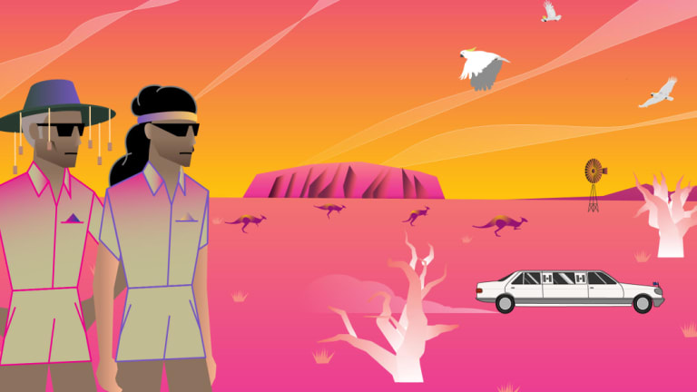 A sneak preview of an animation to be shown on the Sydney Harbour Bridge.