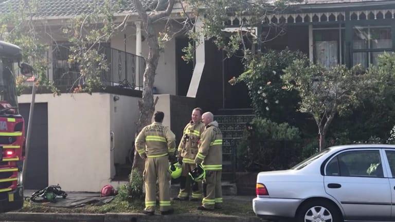 Five fire crews were at the scene, battling the fierce blaze.