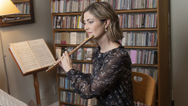Elizabeth Rowe, 44, joined the BSO as its principal flutist when she was 29.