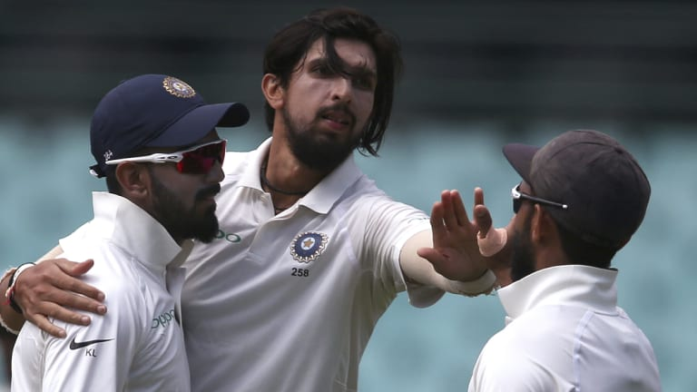 Leaner, fitter: Guilty of bowling too short on previous tours, Ishant Sharma took a modest 1-73 off 22 overs against the CA XI at the SCG.