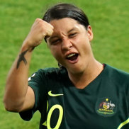 The heartbeat of the Matildas: skipper Sam Kerr.