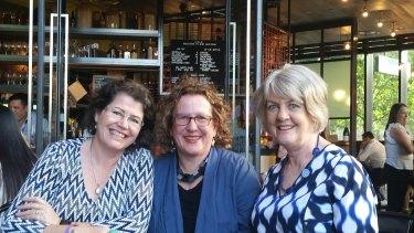 Ruth McGowan (left) with fellow Honour a Woman founders Elizabeth Hartnell-Young and Carol Kiernan.