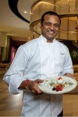 Chef Manjunath Mural: The Asian Indian Gastronomist of Heritij at Brisbane Quarter.