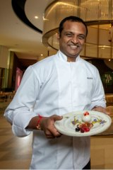 Chef Manjunath Mural: The Asian Indian Gastronomist of Heritij at Brisbane Quarter.