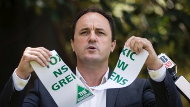 Jeremy Buckingham quit the Greens party in December.