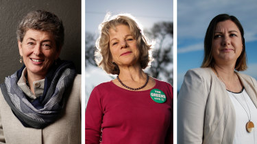 Eden-Monaro byelection candidates:Liberal Fiona Kotvojs, Greens' Cathy Griff, and Labor's Kristy McBain.