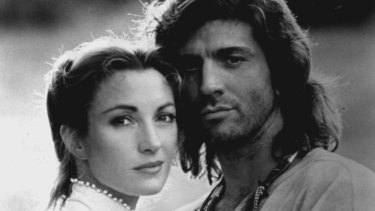 Jane Seymour and Joe Lando in Dr. Quinn, Medicine Woman in 1993.
