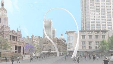 An artist's impression of the Cloud Arch art sculpture.