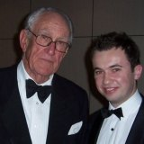 A young Matt Kean with former prime minister Malcolm Fraser.