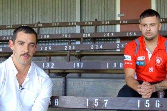 Taylor Walker alongside Robbie Young.